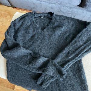 Distressed Black Cashmere sweater - Minnie Rose